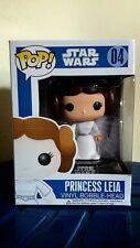 Funko Pop Star Wars Princess Leia #04 Vinyl Bobble-Head free pop protector Gifts