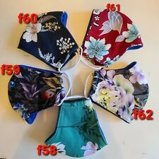 FLORAL (30 DESIGNS) GIRL WOMAN LADY ADULT  PREMIUM FACE MASK WITH FILTER