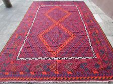 Kilim Old Traditional Hand Made Afghan Oriental Large Kilim Red Wool 358x240cm