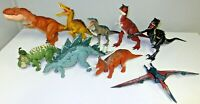 JURASSIC PARK - WORLD LARGE TOYS LOT OF NINE DINOSAURS IN GOOD CONDITION