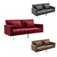 Mingone Schlafsofa Sofa mit Schlaffunktion 3 Sitzer Sofabett Verstellbarer Winke