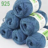 C New 6Ball X 50g Soft Smooth Baby Bamboo Cotton Knitting Yarn DIY Knitwear 25