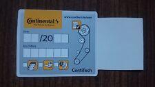 1 Serviceaufkleber Zahnriemen Wechsel Zahnriemen gewechselt Original Continental