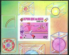 NIGER IMPERFORATED SOUVENIR SHEET WORLD CUP SOCCER ESPANA 1982 SC#526 MINT NH