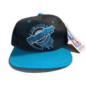 Las Vegas Thunder Hockey Snapback Hat 1990's Embroidered  Deadstock NWT