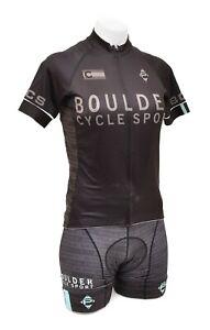 Panache Short Slv Cycling Kit Women SMALL Black Teal Road Bike Team BCS Colorado