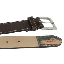 Genuine Paul Smith Leather Belt/Multi Stripe Mini Rufford Park/Size: 32''/BNWT