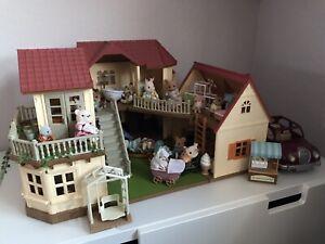 Silvanian Families Haus (Stadtvilla und Starterhaus) mit viel Zubehör