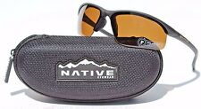 NATIVE EYEWEAR Hardtop XP Sunglasses POLARIZED Matte Black/Brown NEW $129 Sport