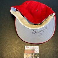 Ken Oberkfell 1983 Signed Game Used St. Louis Cardinals Baseball Hat JSA COA