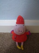 Peppa Pig Soft Toy Dressed in Red Outfit