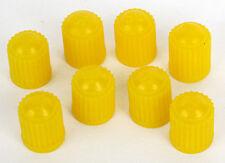 YELLOW PLASTIC TYRE VALVE CAPS (SET OF 8) *** Brand New ***