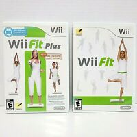 Nintendo Wii Video Game LOT (2) Wii Fit Plus w/ Wii Fit No Balance Board Incl.