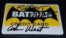 Adam West Signed Batman Credit Card Riddler Inscription autograph