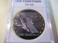 US NAVY - USS YORKTOWN / CV-10 Challenge Coin