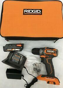 Ridgid R8701K 18V Cordless/Brushless SubCompact Drill/Driver Kit,N