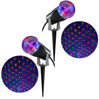 Gemmy Light Show Projection Star Spinner (Pack of 2) Red Green Blue (RGB)