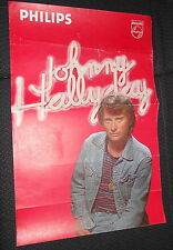 JOHNNY HALLYDAY  80s RARE AFFICHE ORIGINALE FRENCH POSTER