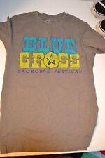 Blue Grass Lacrosse Festival 2017 Louisville Gray Graphic 2 Side T-Shirt Size S