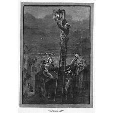 Lo spiritus rector da DAVIDSON Knowles; anticipato Street Light-Antico stampa 1882