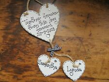 Personalised Wedding Gift Just Married Anniversary Sign Plaque Heart Present