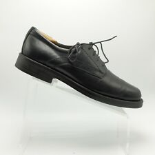 Bostonian Mens Oxford Lace Up Shoes Black Leather Upper 23061 Size 10.5M Italy