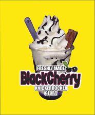 ICE CREAM VAN STICKER - Black Cherry  KNICKERBOCKER GLORY WITH FLAKE