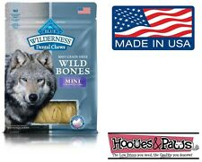 NATURAL Blue Buffalo WILDERNESS MINI Dental Dog Treats Grain Free MADE IN USA