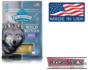 NATURAL Blue Buffalo WILDERNESS MINI Dental Dog Treats Grain Free MADE IN USA