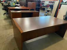 Executive Desk Amp Credenza Set By National Kimball Office Furniture In Walnut