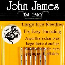 LARGE EYED SIZE 5 NEEDLE - 6 NEEDLES PER PACK