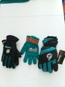 Miami Dolphins Gloves. (3pair)
