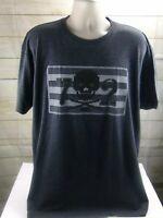 Ecko Unltd Mens Gray  Graphic T-Shirt Logo Print  Size X Large