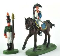 lead figure Soldier Napoleonic War Austerlitz Infantry and cavalry DelPrado DA58