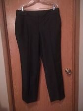 810 Dana Buchman 4% Spandex Stretch Career Dress Slacks Imitation Leather Trim