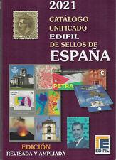 CATALOGO EDIFIL ESPAÑA SELLOS 1850 AL 2020 UNIFICADO EDICION 2021 (SÓLO HOJEADO)