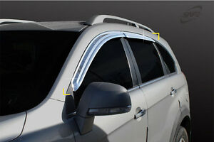 SAFE Chrome Wind Deflectors 4pcs for 2006 - 2017 Opel Vauxhall Antara
