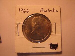 1966 Australia aUnc 20c Coin.
