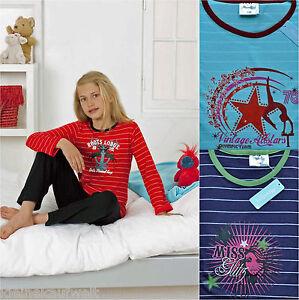 Süßer Mädchen Schlafanzug Pyjama,in 3 Farben und Motiven, Größen 128-164 Neu!