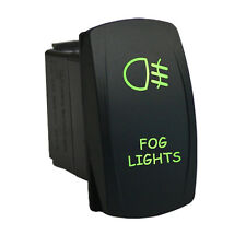 Rocker switch 617G 12V FOG LIGHTS Laser LED green ON-OFF universal