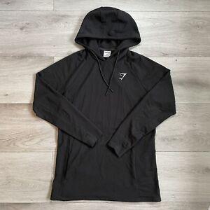 Gymshark Critical Hoodie Size Medium M Mens Black Pullover