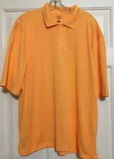 NWOT Men's Haggar size L orange cool18 short sleeve polo golf shirt