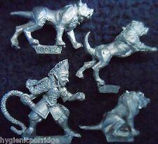 1990 Dark Elf MM73/3 Whelp Master & War Hounds Marauder Army Chaos Dog Handler