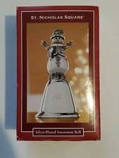 St. Nicholas Square Silver Plated Snowman Bell 2007