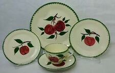 "BLUE RIDGE SOUTHERN Pottery QUAKER APPLE 5-piece Place Setting - 9-1/4"" Luncheon"