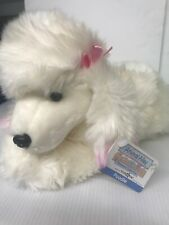 "Animal Alley WHITE FLUFFY POODLE DOG 12"" Plush STUFFED Toys R Us Exclusive gift"