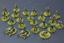1/72 Scale WWII GERMAN INFANTRY AIRFIX  24 Painted figures on bases