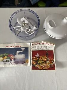 Salsa Master hand powered salsa maker chopper white