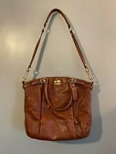 LOVELY COACH Madison Brown Pebbled Leather Cross body Shoulder Bag