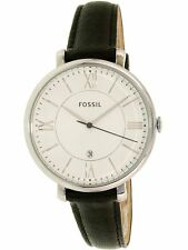Fossil Women's Jacqueline ES3972 Black Leather Quartz Fashion Watch